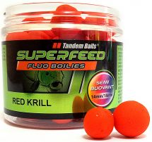 Бойлы Tandem Baits SF Fluo Semi Buoyant Boilies 14mm/18mm Mix 90g Red Krill