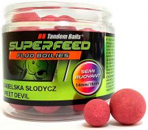 Бойлы Tandem Baits SF Fluo Semi Buoyant Boilies 14mm/18mm Mix 90g Sweet Devil