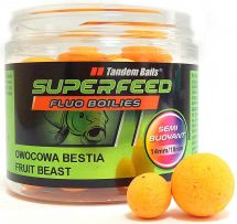 Бойлы Tandem Baits SF Fluo Semi Buoyant Boilies 14mm/18mm Mix 90g Fruit Beast