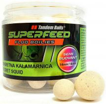 Бойлы Tandem Baits SF Fluo Semi Buoyant Boilies 14mm/18mm Mix 90g Secret Squid