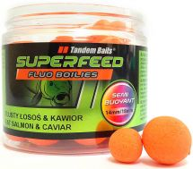 Бойлы Tandem Baits SF Fluo Semi Buoyant Boilies 14mm/18mm Mix 90g Fat Salmon & Caviar