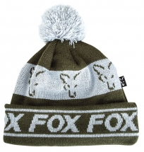 Шапка Fox  green / silver lined bobble