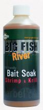 Ликвид Dynamite Baits Big Fish River Bait Soakt Shrimp & Krill 500ml