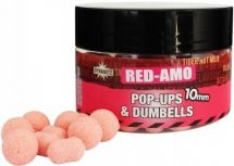 Бойлы Dynamite Baits Fluro Pop-Ups & Dumbells RED-AMO 10mm