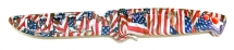 "Нож Gambler Evolution 4"" Bait Knife American Flag"