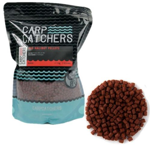 Купить Пеллетс Carp Catchers Red Halibut 1kg ― Carp Zander