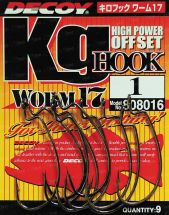 Крючок Decoy Worm 17 Kg High Power Hook