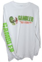 Футболка Gambler Long Sleeve Performance T White