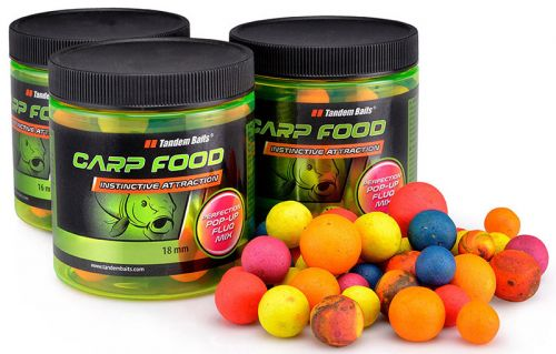 Купить Бойлы Tandem Baits Perf. Pop-Up Fluo Mix 250ml   ― Carp Zander