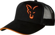 Бейсболка Fox Black/Orange Trucker Cap
