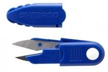 SHIMANO LINE CUTTER SCISSORS CT-011L PIN ON SHEATH BLUE