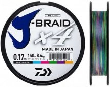 Шнур Daiwa J-Braid X4E 150m Multi Color
